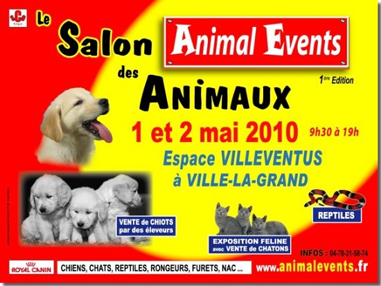 Animal events salon animaux ville la grand haute savoie 74 sur animaux fr - Salon du chiot ville la grand ...